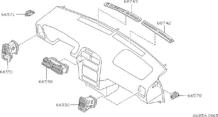 INFINITI QX4 Windshield Defroster Nozzle (Left, Front