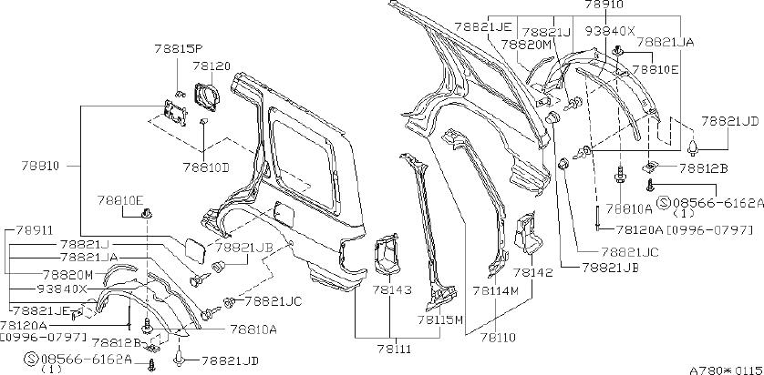 1994 INFINITI Protector Fender, L. (Left, Right, Rear