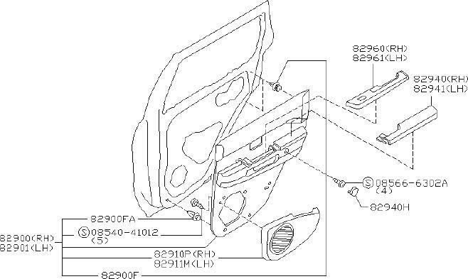2000 INFINITI I30 Door Armrest. SEAT, SYSTEM, AUDIO