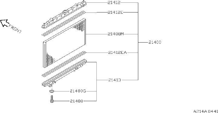 2001 INFINITI Engine Cooling Fan Blade. RADIATOR, SHROUD