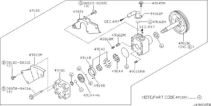 INFINITI G20 Pulley Kit Power Steering Pump. Suspension