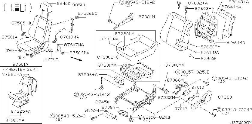 2002 INFINITI Cover Seat Slide. Cover Seat Sliding. MANUAL