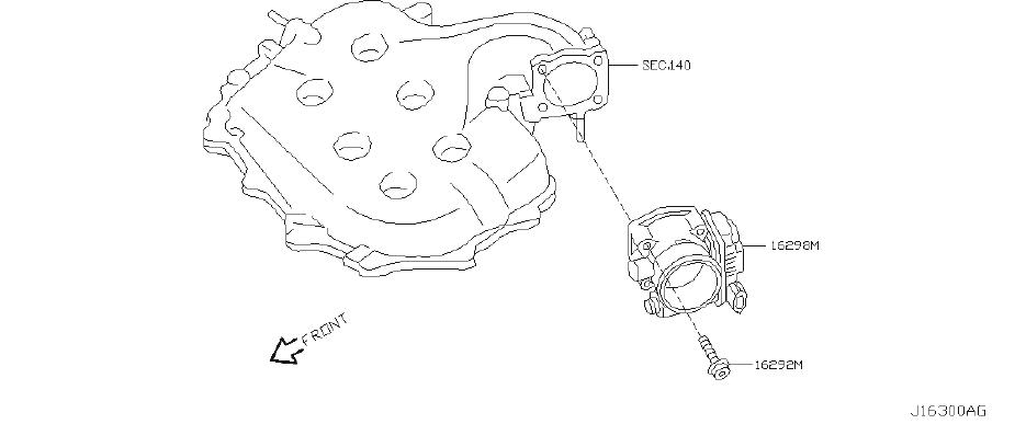 2021 INFINITI Fuel Injection Throttle Body. CHAMBER