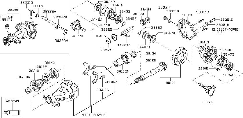 2014 INFINITI Q70 SEDAN TECH/PKG Circlip-side gear. Trac