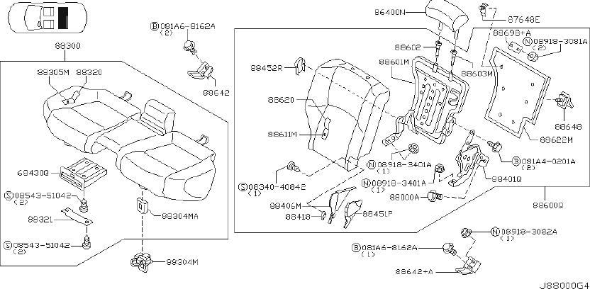 2003 INFINITI Seat Back Recliner Adjustment Mechanism