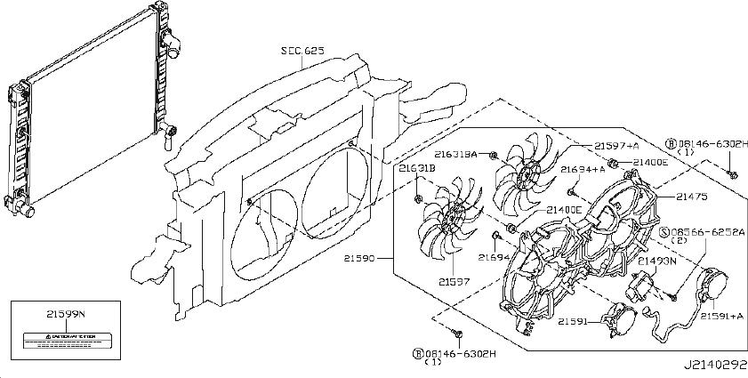 INFINITI FX35 Engine Coolant Reservoir Hose. RADIATOR