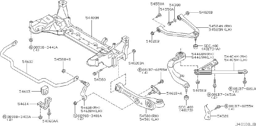 2006 INFINITI G35 Suspension Control Arm Bracket (Right