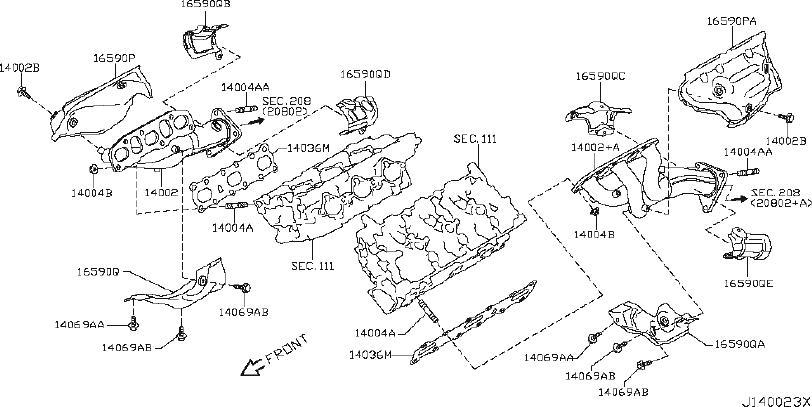 2013 INFINITI G37 Cover Exhaust Manifold. ENGINE, INTAKE