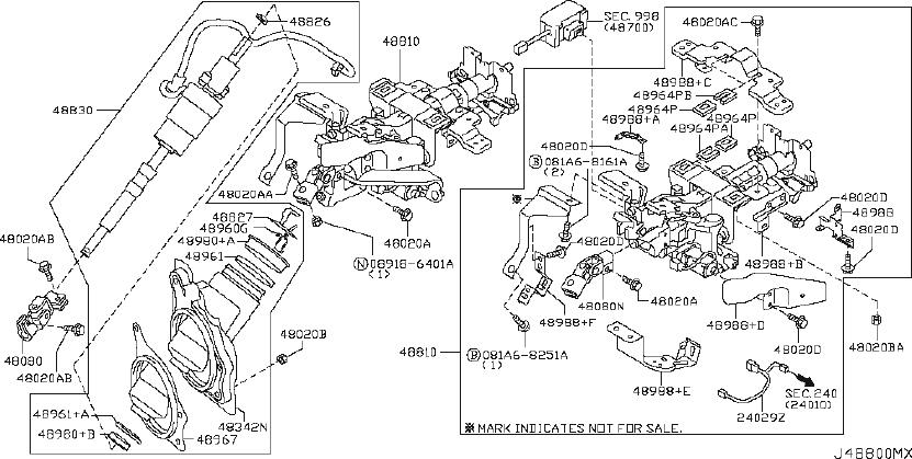 INFINITI G37 Steering Shaft Universal Joint (Lower