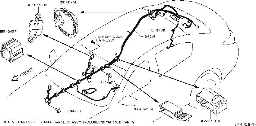 INFINITI G37 Harness Egi Sub. Harness Sub, Engine Room