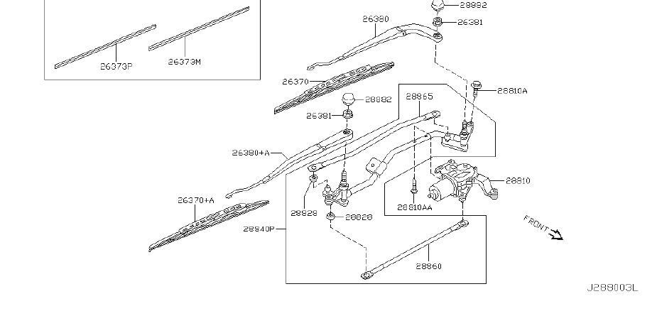 2021 INFINITI Windshield Wiper Blade. System, Electrical