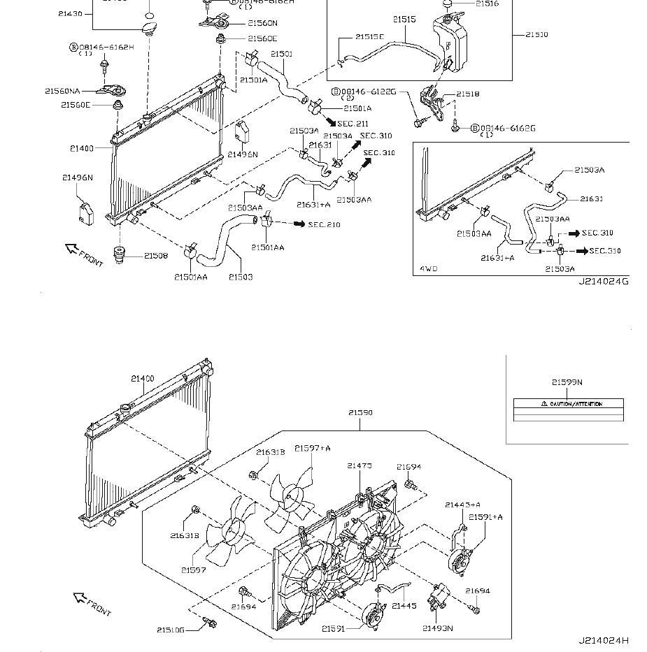 INFINITI M35 Engine Cooling Fan Shroud. RADIATOR, FITTING