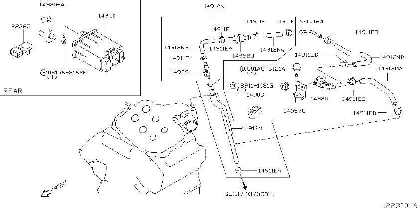 INFINITI M35 Evaporator Canister Vent Control Valve