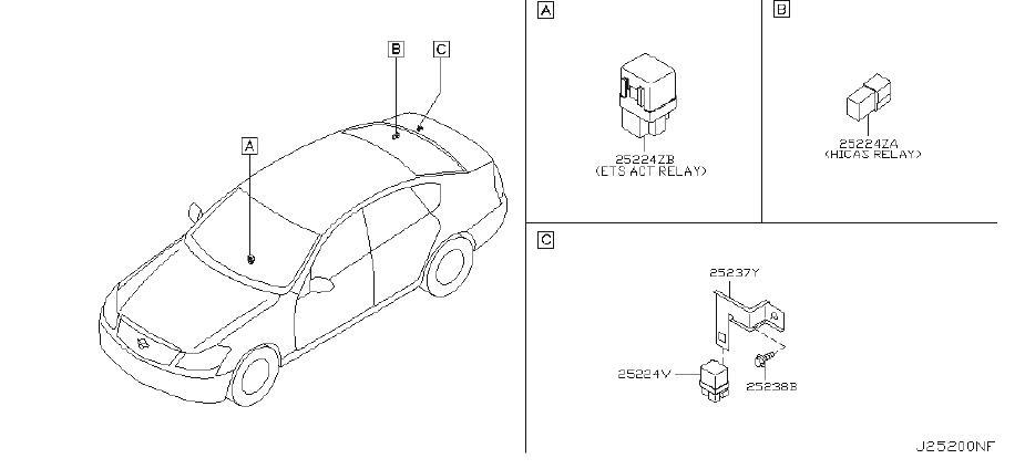 INFINITI M35 Active Body Control (ABC) Relay. Relay