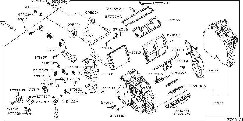 INFINITI M35 Motor B With Case. Motor Blow. (Lower