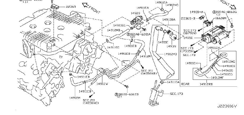 INFINITI M56 Evaporator Canister Vent Control Valve
