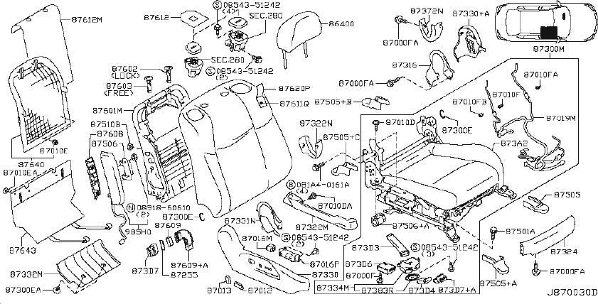 INFINITI M37 Power Seat Wiring Harness (Front). SPEAKER