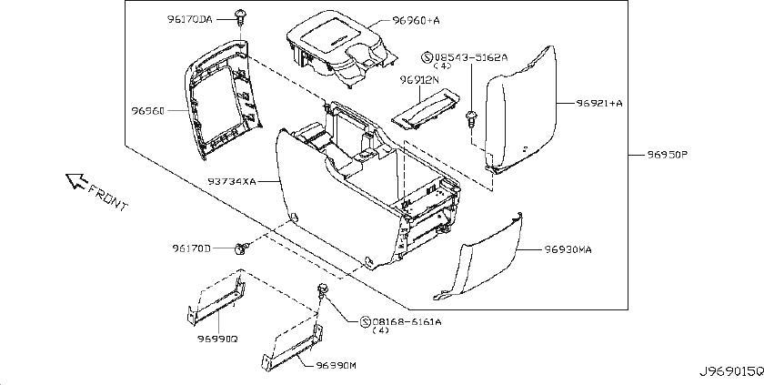 INFINITI QX56 Automatic Transmission Shift Lever Boot