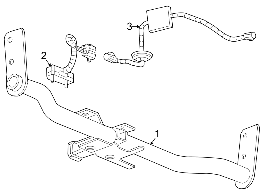 1995 Chevrolet Wiring Harness Connector (Rear). 2010-15