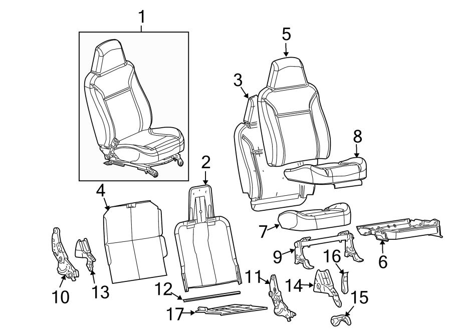 GMC Canyon Seat Cover. SPLIT BENCH SEAT, PASSENGER SEAT
