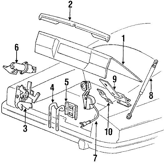 Jaguar XJS Trunk Lock Actuator Motor. CONVERTIBLE, Release