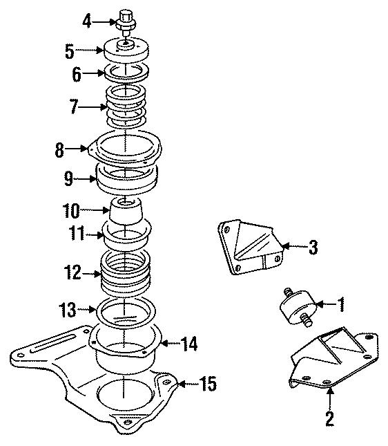 Jaguar XJS Spring cradle. Transmission mount. 4.0 liter