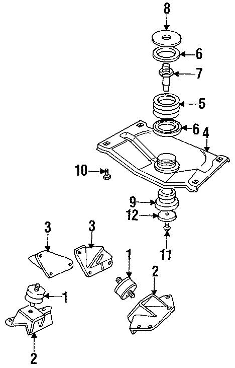 Jaguar XJS Engine bracket screw. Hinge screw. Mount screw