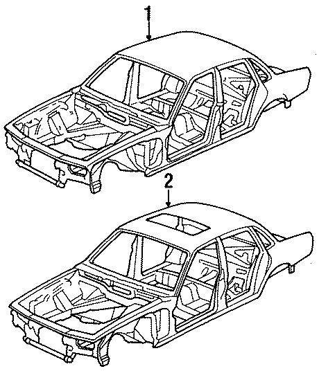 Jaguar XJ6 BodySHELL. W/o extended wheelbase, w/sunroof