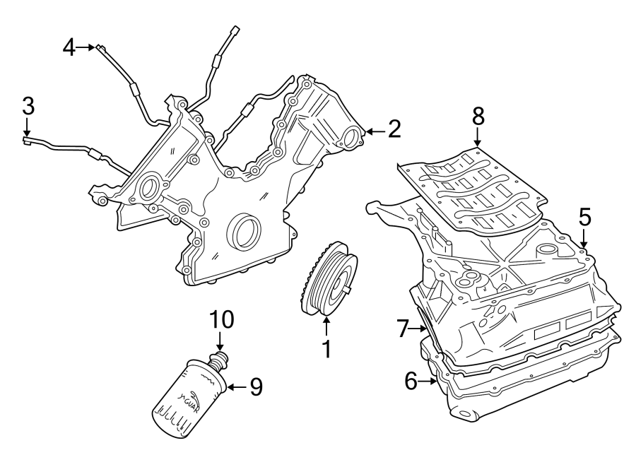 Jaguar XJR Engine Oil Filter Adapter. SUPERCHARGER