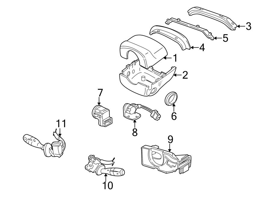 Jaguar XK8 Combination Switch. Auto, STEERING, Headlamp