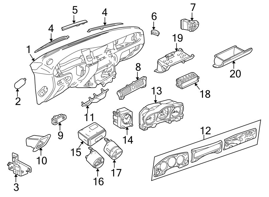 Jaguar XJ8 Dashboard Panel. Instrument, Oatmeal, Body