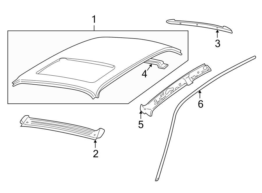 Jaguar Vanden Plas Roof Bow (Rear). Long, Wheelbase, Panel