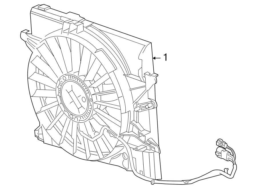 Jaguar XK8 Engine Cooling Fan Assembly. FAN & MOTOR. Fan