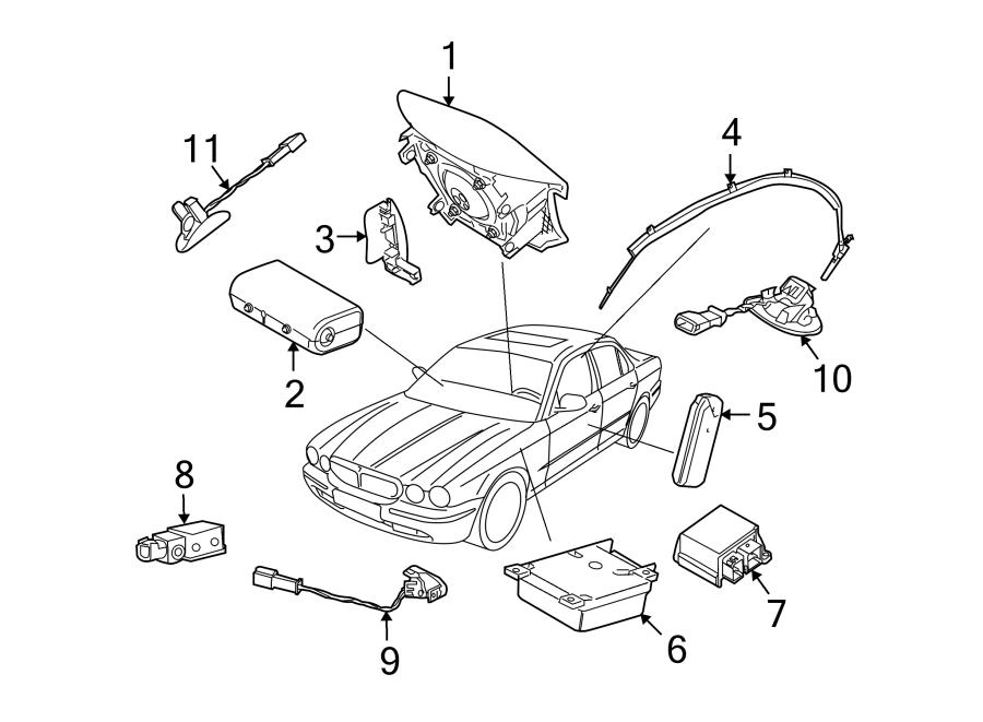 Jaguar XJ8 Air Bag Seat Sensor Mat. Air Bag Seat Sensor