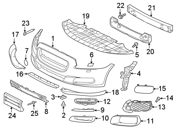 Jaguar XJR Radiator Support Splash Shield (Front, Lower