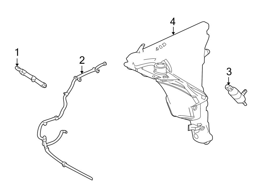 2011 Jaguar XJ Headlight Washer Nozzle. XJ Series; Left