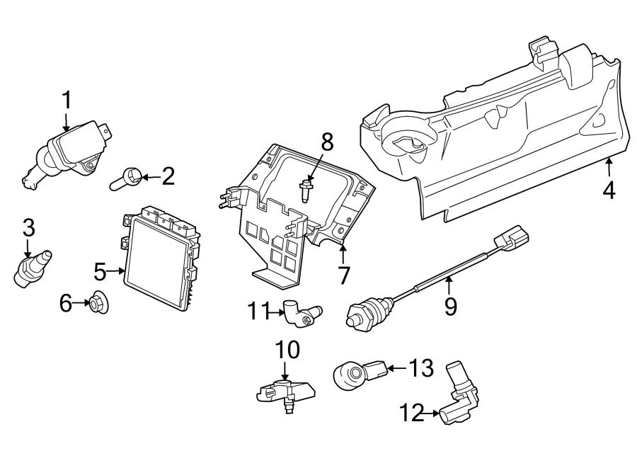 Jaguar XKR Bumper Cover Screw. ECM bolt. Engine Control