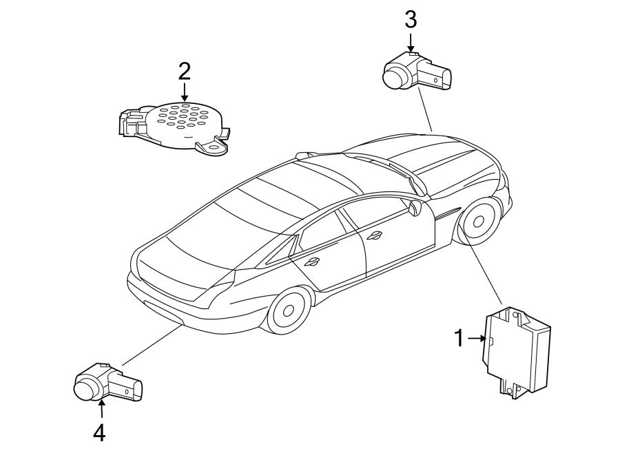 Jaguar XJ Parking Aid System Speaker. ELECTRICAL, Reverse