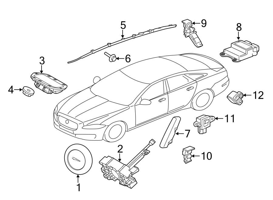 Jaguar XE Curtain Air Bag Bolt. Engine Mount Heat Shield