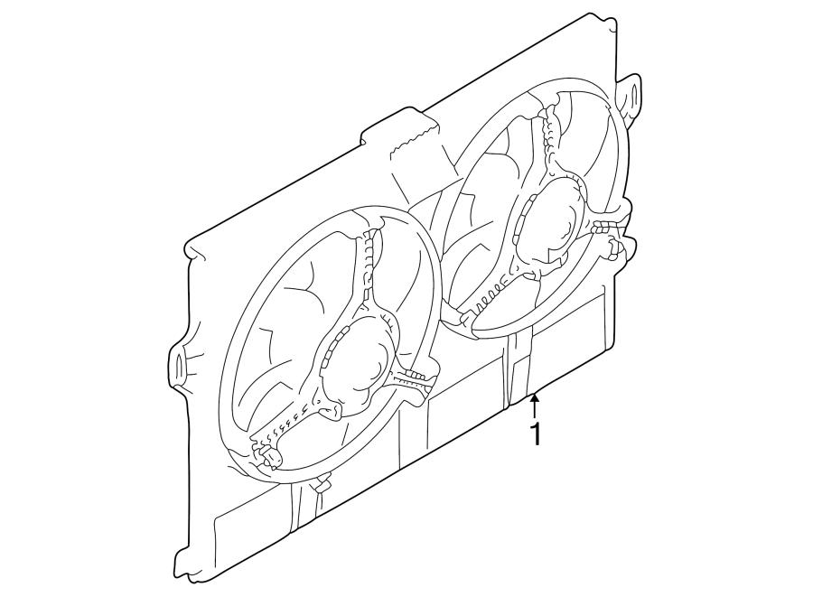 Jaguar XK8 Engine Cooling Fan Assembly. Supercharger