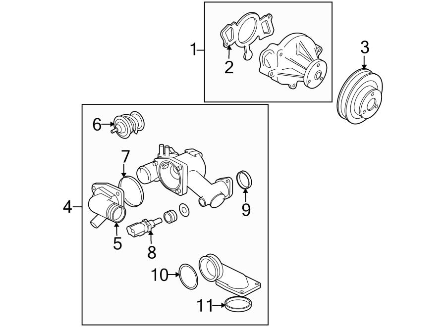 Jaguar XKR Engine Coolant Thermostat Gasket. SUPERCHARGER