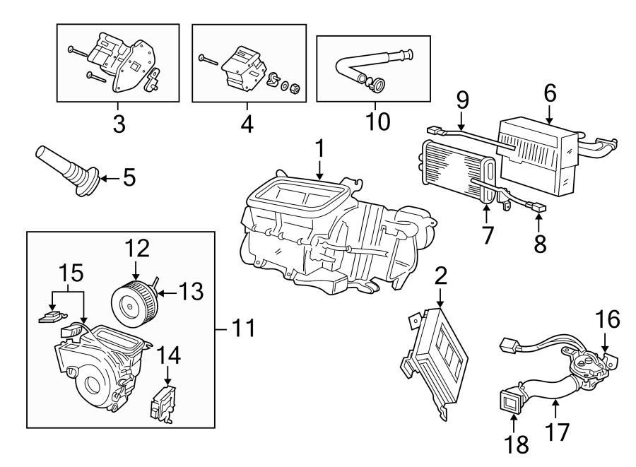 Jaguar XKR A/c evaporator core. Evaporator core. Heater
