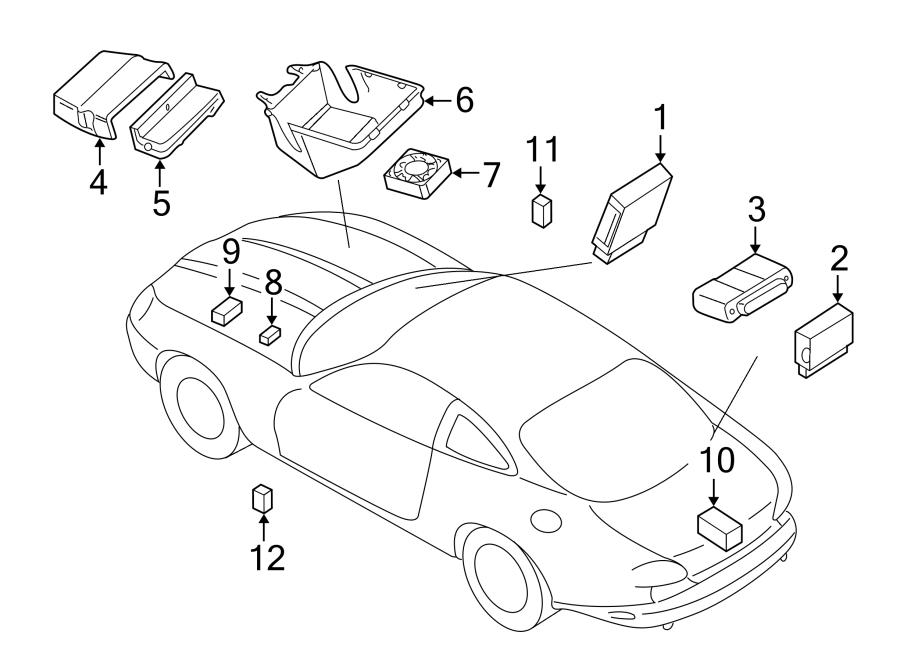 Jaguar XK8 Fuse Box. MODULES & ELECTRICAL DISTRIBUTION, #4