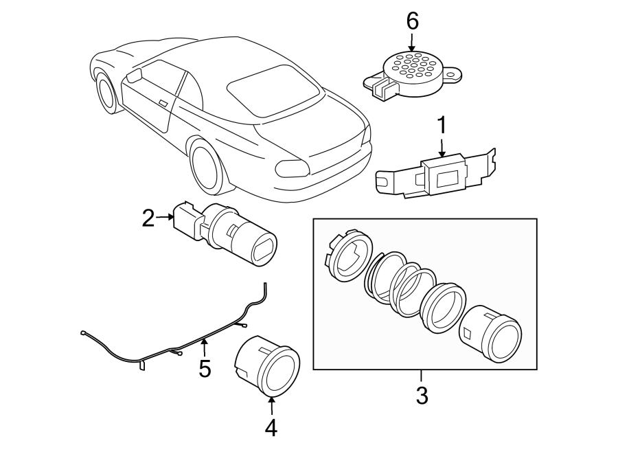 Jaguar XK8 Parking Aid Sensor. System, REVERSE, ELECTRICAL