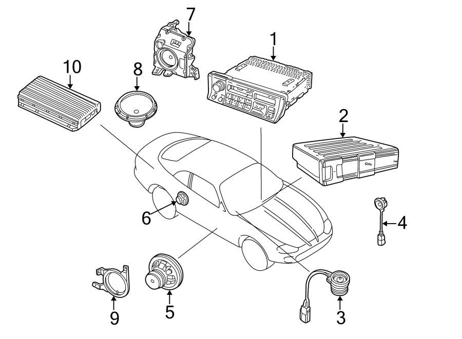 Jaguar XKR Speaker (Rear). Right, Convertible, Mobile