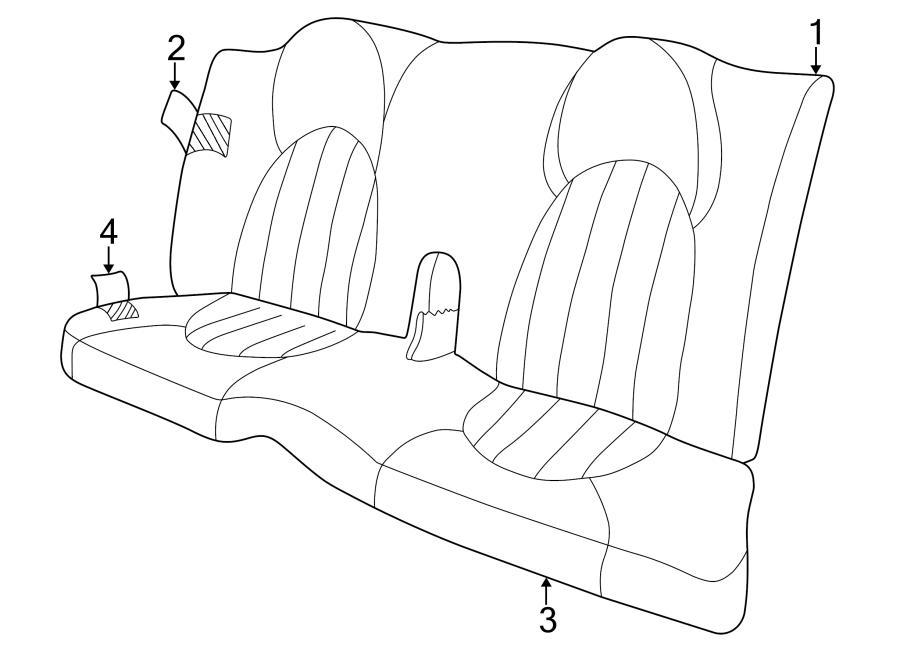 Jaguar XK8 Seat Back Cover (Upper). COUPE, CLASSIC SEAT