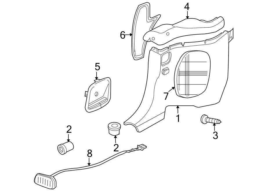 Jaguar XK8 Seat Belt Guide. Seat belt trim. Rear; charcoal