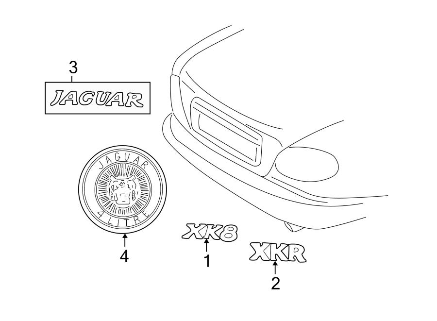 Jaguar XK8 Deck Lid Emblem. PartQualifier, Nameplate