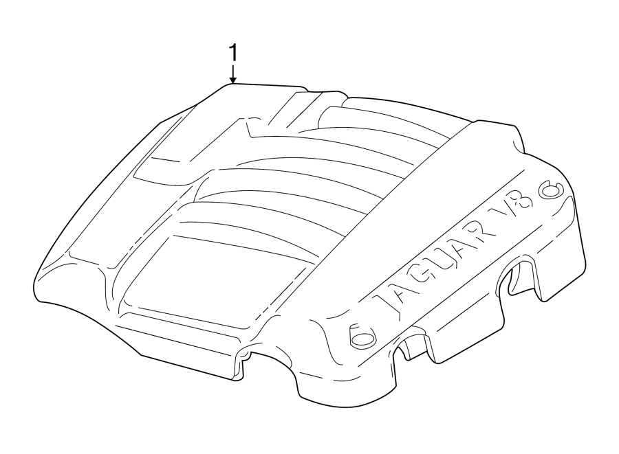 Jaguar S-Type Engine Cover. LITER, Rover, Land, Assy