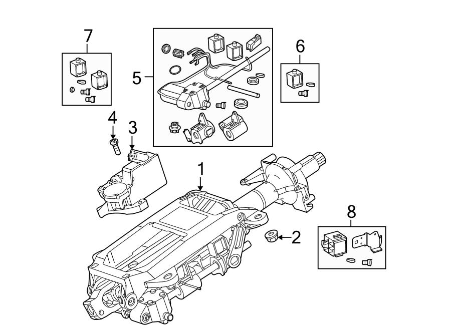 Jaguar S-Type Kit. Motor. Steering. Column Tilt. SteerNG